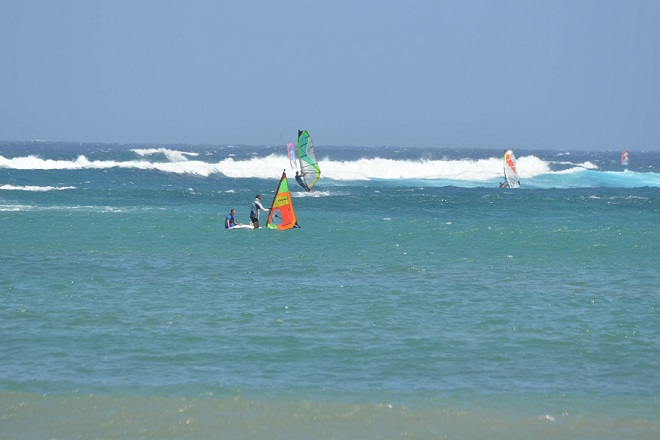 Perfect conditions in Las Cucharas for beginners and advanced